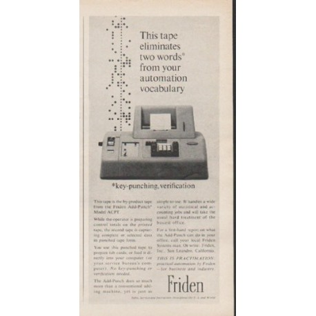 "1962 Friden Ad ""This tape"""
