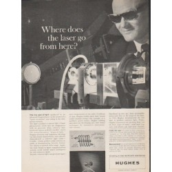 "1962 Hughes Aircraft Company Ad ""Where does the laser go"""