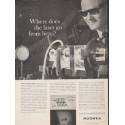 "1962 Hughes Aircraft Company Ad ""Where does the laser go"""