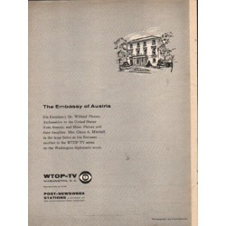 "1962 The Embassy of Austria Ad ""His Excellency"""