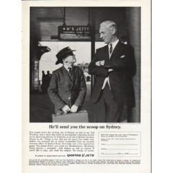 """1962 Qantas Ad """"He'll send you the scoop"""""""