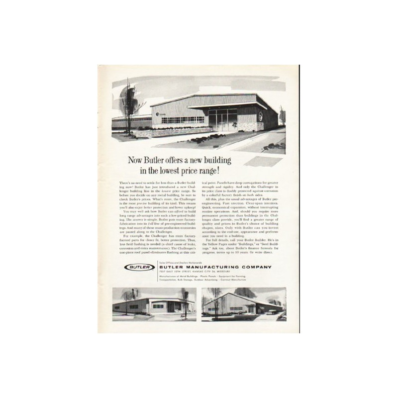 1962 butler manufacturing company vintage ad a new building Butler building details