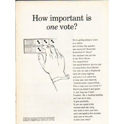 "1962 Newsweek PSA Ad ""How important"""