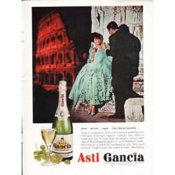 """1962 Asti Gancia Ad """"wine ... words"""""""