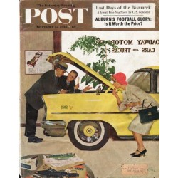 "1958 Saturday Evening Post Cover Page ""Super V"" ~ November 15, 1958"