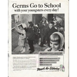 "1958 Listerine Ad ""Germs Go to School"""