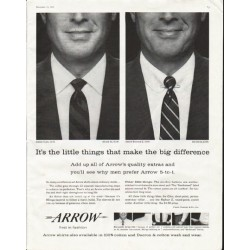 "1958 Arrow Shirt Ad ""It's the little things"""