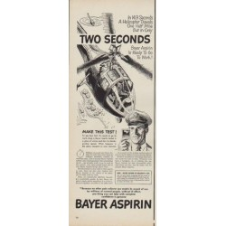 "1950 Bayer Aspirin Ad ""Two Seconds"""