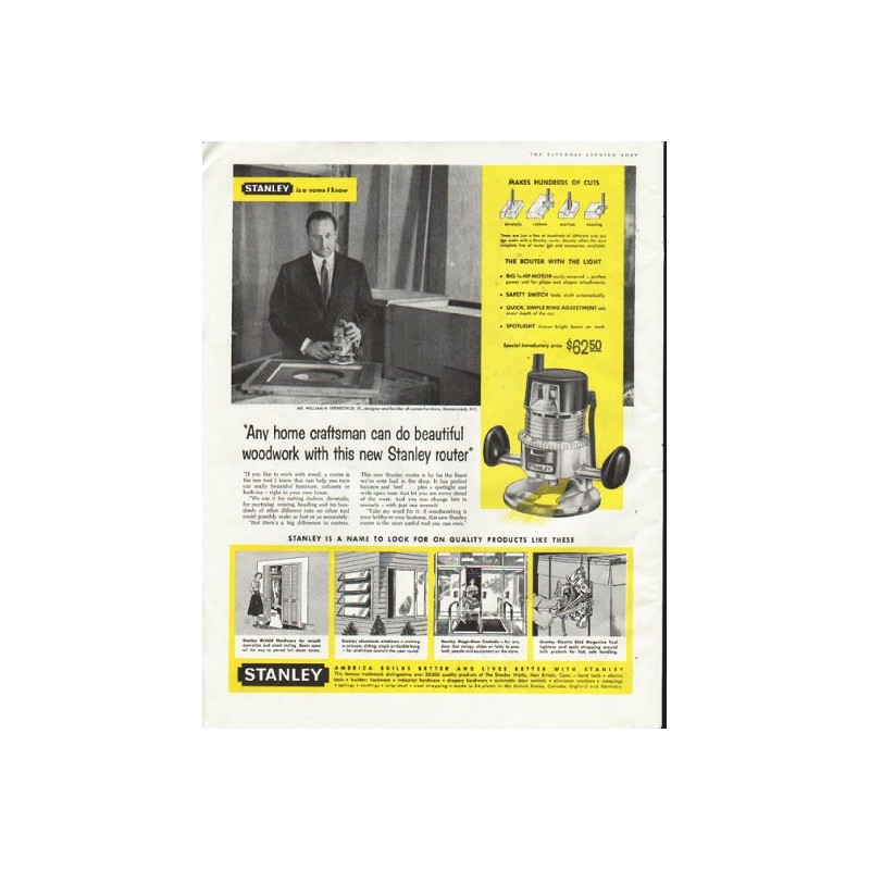 1958 Stanley Tools Vintage Ad Quot Any Home Craftsman Quot