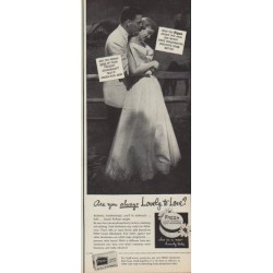 "1950 Fresh Deodorant Bath Soap Ad ""Are you always Lovely to Love?"""