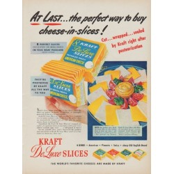 "1950 Kraft Ad ""At Last ... the perfect way to buy cheese-in-slices!"""