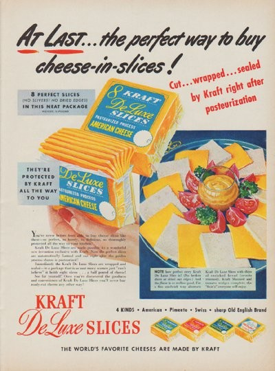 1950 Kraft Ad Quot At Last The Perfect Way To Buy Cheese