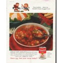 "1958 Campbell's Soup Ad ""Every lunchtime"""