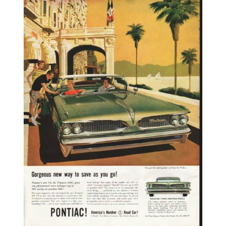 "1959 Pontiac Ad ""new way to save"" ~ (model year 1959)"