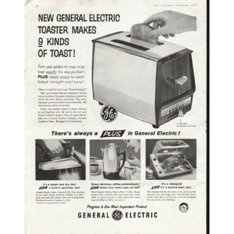 "1958 General Electric Ad ""9 kinds of toast"""