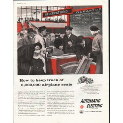 "1958 Automatic Electric Ad ""How to keep track"""