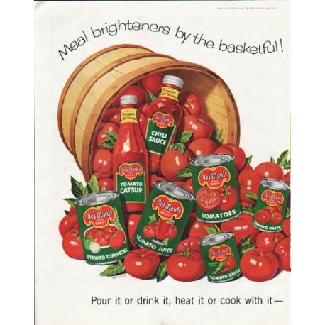 """1958 Del Monte Ad """"Meal brighteners"""""""