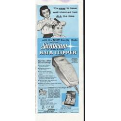 "1958 Sunbeam Ad ""Sunbeam Clipmaster"""