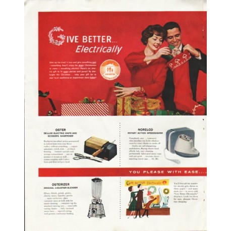 "1958 Electric Gifts Ad ""Give Better"""