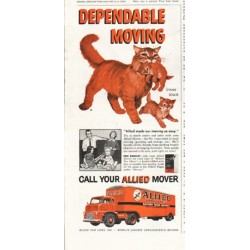"1958 Allied Van Lines Ad ""Dependable Moving"""