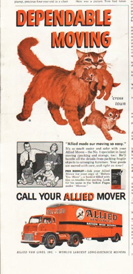 1958 Allied Van Lines Vintage Ad Quot Dependable Moving Quot