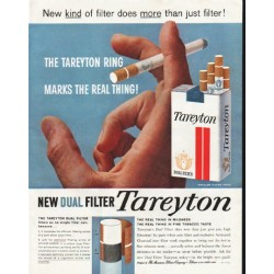 "1958 Tareyton Cigarettes Ad ""The Tareyton Ring"""