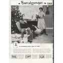 "1958 BarcaLounger Ad ""two Christmas Gifts in one"""