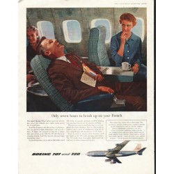 "1958 Boeing Ad ""Only seven hours"""