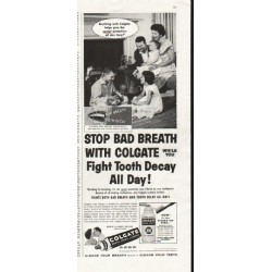 "1958 Colgate Ad ""Stop Bad Breath"""