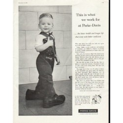 "1958 Parke-Davis Ad ""what we work for"""