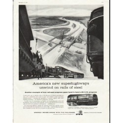 "1958 Association of American Railroads Ad ""superhighways"""