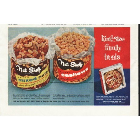 "1958 Nut Shelf Ad ""family treats"""