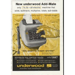 "1958 underwood Ad ""Add-Mate"""
