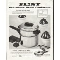 "1958 Flint Cookware Ad ""makes eating great"""