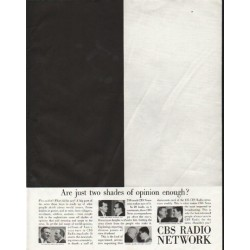 "1958 CBS Radio Network Ad ""two shades of opinion"""