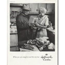 """1958 Hallmark Cards Ad """"care enough"""""""