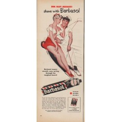 "1950 Barbasol Ad ""For Best Results: shave with Barbasol"""