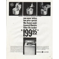 """1965 General Electric Ad """"new never before"""""""