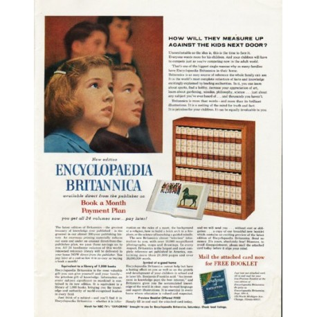 """1965 Encyclopaedia Britannica Ad """"How will they measure up"""""""