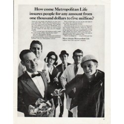 "1965 Metropolitan Life Ad ""any amount"""