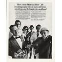 "1965 Metropolitan Life Ad ""any amount"""