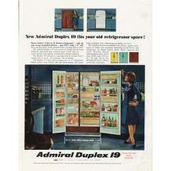 "1965 Admiral Refrigerator Ad ""old refrigerator space"""