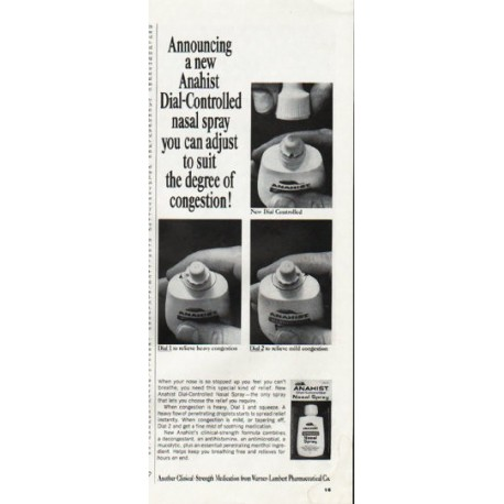 """1965 Anahist Ad """"Dial-Controlled"""""""