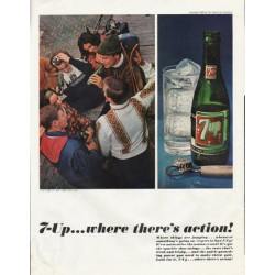 "1965 7-Up Ad ""Where things are jumping"""