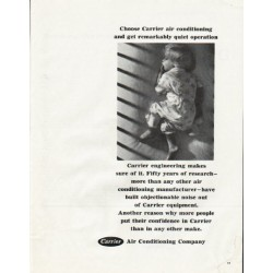 "1965 Carrier Air Conditioner Ad ""quiet operation"""