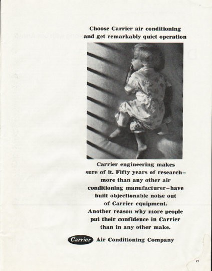 1965 Carrier Air Conditioner Vintage Ad Quot Quiet Operation Quot