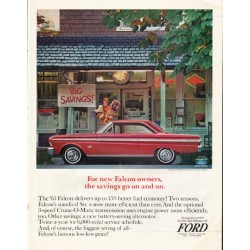 "1965 Ford Falcon Ad ""For new Falcon owners"" ~ (model year 1965)"