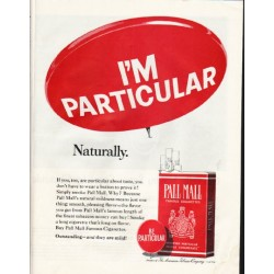 "1965 Pall Mall Cigarettes Ad ""I'm Particular"""