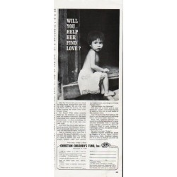 "1965 Christian Children's Fund Ad ""help her"""