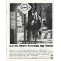 "1965 Massachusetts Mutual Life Insurance Ad ""10,320 trips"""